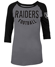 5th & Ocean Women's Oakland Raiders Rayon Raglan T-Shirt