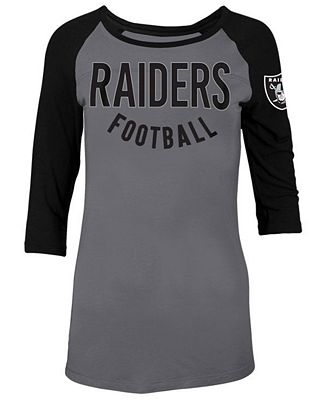 5th & Ocean Women's Oakland Raiders Rayon Raglan T-Shirt