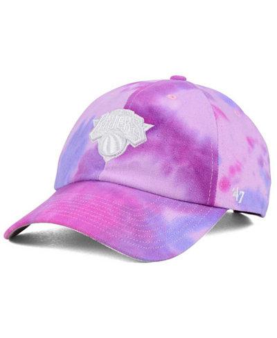 '47 Brand New York Knicks Pink Tie-Dye CLEAN UP Cap