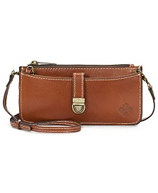 Patricia Nash Heritage Aso Organizer Leather Crossbody Wallet