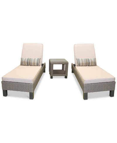 Del Mar 3-Pc. Set (2 Chaise Lounge, Created for Macy's & 1 End Table), Created for Macy's