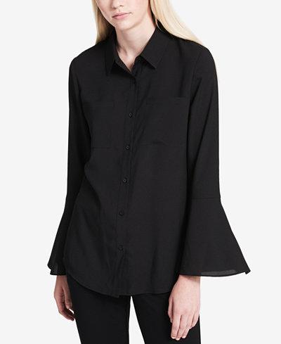 Calvin Klein Bell-Sleeve Shirt