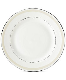 kate spade new york Union Square Taupe Dinner Plate