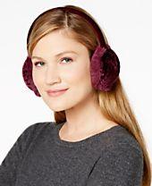 INC International Concepts Velvet Burnout Earmuffs, Created for Macy's