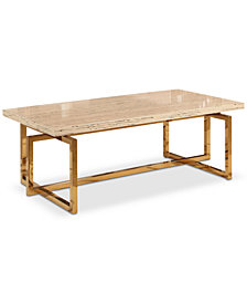 Corinne Stainless Steel Coffee Table, Quick Ship