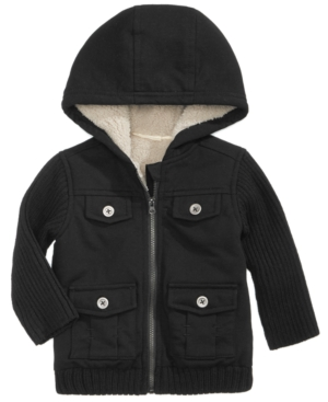 First Impressions Fleece Cargo Jacket Baby Boys (024 months) Created for Macys