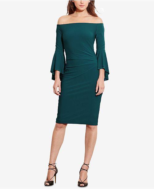 ca634054f57 Lauren Ralph Lauren Off-The-Shoulder Sheath Dress   Reviews ...