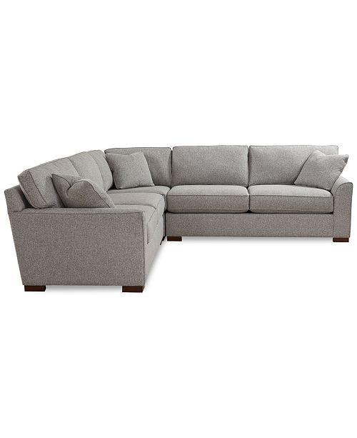 "Macys Furniture Columbus Ohio: Furniture Carena 3-Pc. Fabric ""L"" Shaped Sectional"