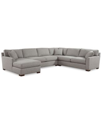 Carena 4-Pc. Fabric Sectional with Chaise, Created for Macy's