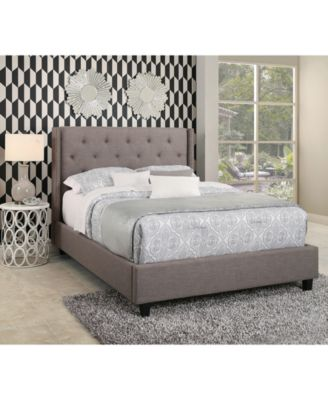 michael tufted upholstered platform bed king quick ship furniture macyu0027s