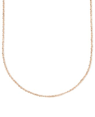 "14k Rose Gold Necklace, 16"" Perfectina Chain (1-1/4mm)"