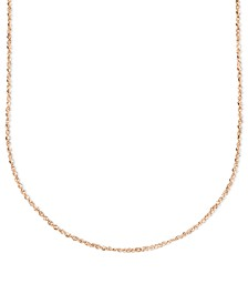 """14k Rose Gold Necklace, 16"""" Perfectina Chain (1-1/4mm)"""