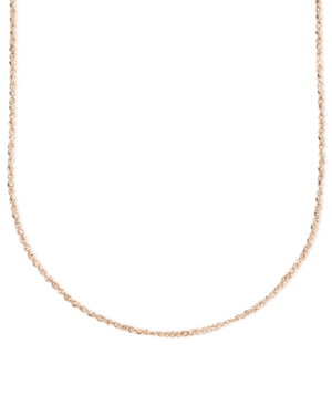 "14k Rose Gold Necklace, 16"" Perfectina Chain"
