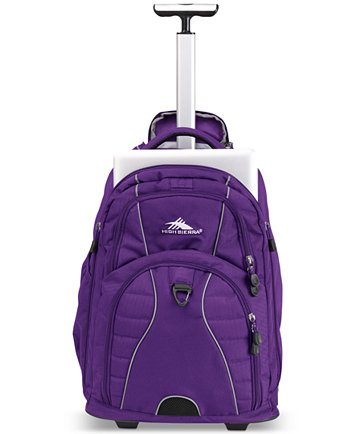 Purple Rolling Backpack Click Backpacks