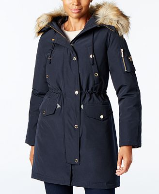 MICHAEL Michael Kors Faux-Fur-Trimmed Hooded Parka - Coats - Women ...