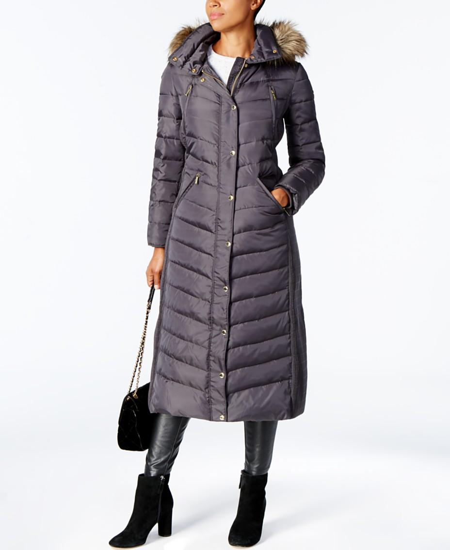 e58dfdeab4e19 Michael Kors Faux-Fur-Trim Maxi Puffer Coat & Reviews - Coats ...
