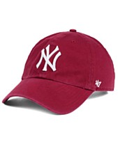a81f64538df  47 Brand New York Yankees Cardinal and White CLEAN UP Cap