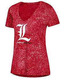 adidas Women's Louisville Cardinals Logo Stack T-Shirt