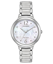Citizen Eco-Drive Women's Citizen L Stainless Steel Bracelet Watch 32mm