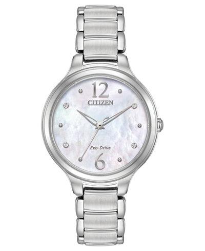 Citizen Eco-Drive Women's Citizen L Stainless Steel Bracelet Watch 32mm