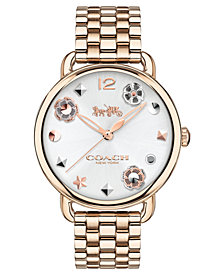 COACH Women's Delancey Carnation Gold-Tone Bracelet Watch 36mm