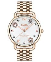 b13feee74c1 COACH Women s Delancey Carnation Gold-Tone Bracelet Watch 36mm