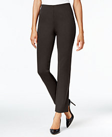 JM Collection Ponte Pull-On Straight-Leg Pants, Created for Macy's
