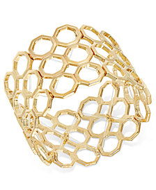 Thalia Sodi Gold-Tone Beehive Stretch Bracelet, Created for Macy's