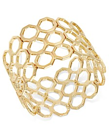 Thalia Sodi Gold-Tone Beehive Stretch Bracelet, Created for Macy's