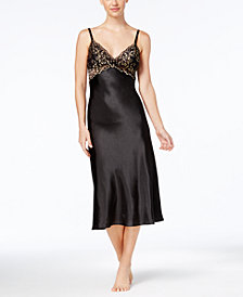 Thalia Sodi Lace-Trim Satin Nightgown, Created for Macy's