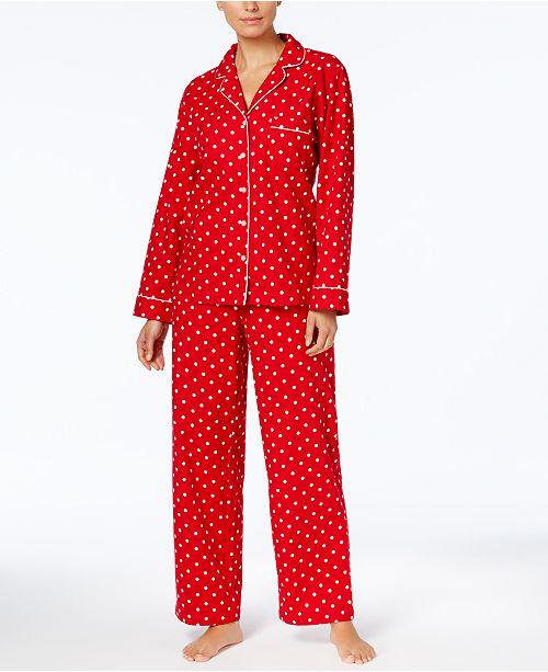 bc1443ffa8 ... Charter Club Petite Printed Cotton Flannel Pajama Set