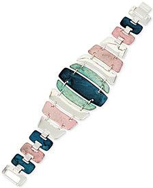 Robert Lee Morris Soho Silver-Tone Multi-Stone Flex Bracelet