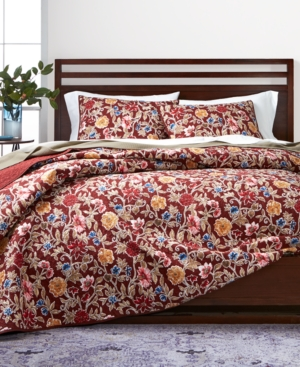 Martha Stewart Collection Climbing Blossoms 100 Cotton Reversible King Quilt Created for Macys