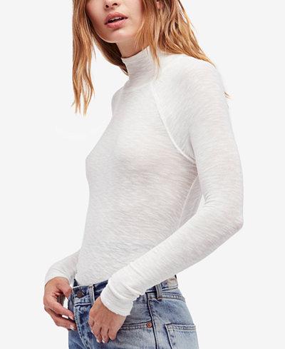Free People Weekends Snuggle Mock-Turtleneck Sweater - Tops ...