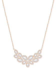 Swarovski Rose Gold-Tone Crystal & Pavé Collar Necklace
