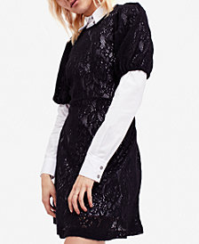Free People 2-Pc. Lace Sweater Dress