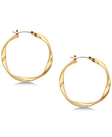 Lucky Brand Twisted Hoop Earrings
