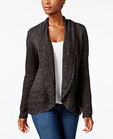Karen Scott Petite Shawl-Collar Cardigan, Created for Macy's