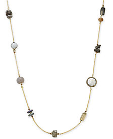 Paul & Pitü Naturally Gold-Tone Beaded Rope Necklace