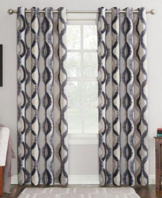 """Corbin 54"""" x 63"""" Ogee Watercolor Grommet Curtain Panel"""