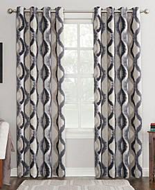 """Corbin 54"""" x 95"""" Ogee Watercolor Grommet Curtain Panel"""