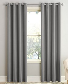Sun Zero Grant Solid Room Darkening Grommet Window Treatment Collection