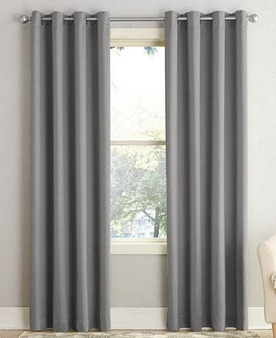 sun zero grant room darkening grommet 54 x 84 curtain panel window treatments for the home. Black Bedroom Furniture Sets. Home Design Ideas