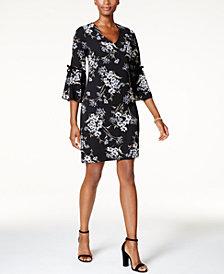 Jessica Howard Petite Flutter-Sleeve Shift Dress