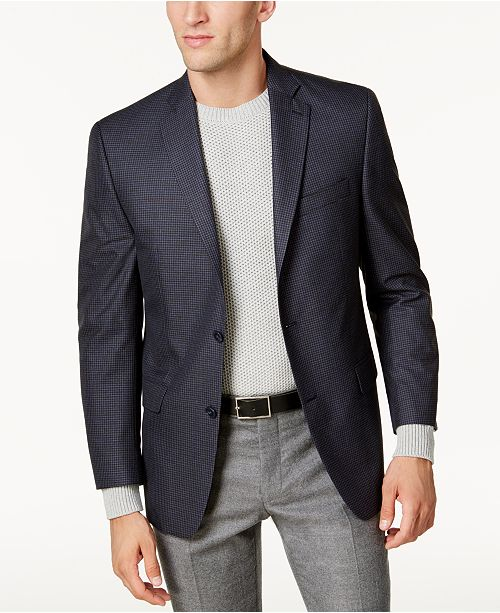 03db01078 Michael Kors Michael Kors Men's Big & Tall Classic-Fit Blue Check ...