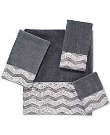 "Avanti Galaxy Chevron 13"" Square Washcloth"