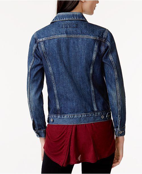 cc54411d6908b Lucky Brand Cotton Denim Trucker Jacket   Reviews - Jackets ...