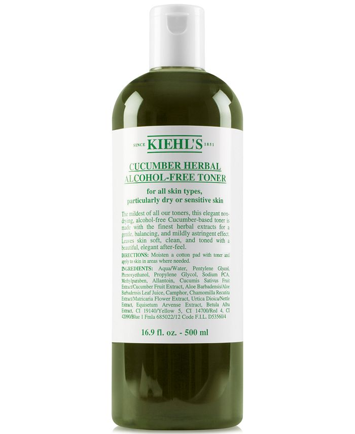 Kiehl's Since 1851 - Cucumber Herbal Alcohol-Free Toner, 16.9-oz.