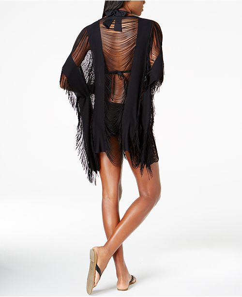ab2c3cf164 Kenneth Cole Sheer Fringe Cover-Up & Reviews - Swimwear - Women - Macy's