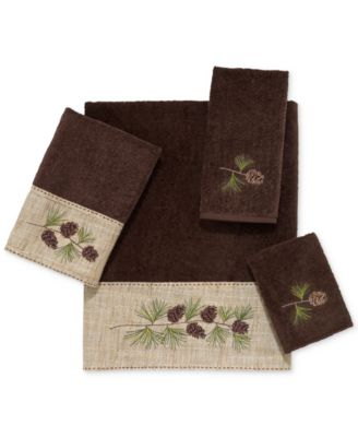 Pine Branch Cotton Embroidered Bath Towel